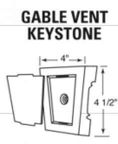 декоративный замковый камень на стандартную вент. Решётку