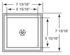 встраиваемый квадратный блок, код 03 0202***, цвет любой