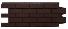 Фасадная панель GRAND LINE Клинкерный кирпич (Коричневый), 1,10м